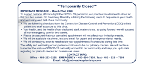 Temporarily Closed due to COVID 19
