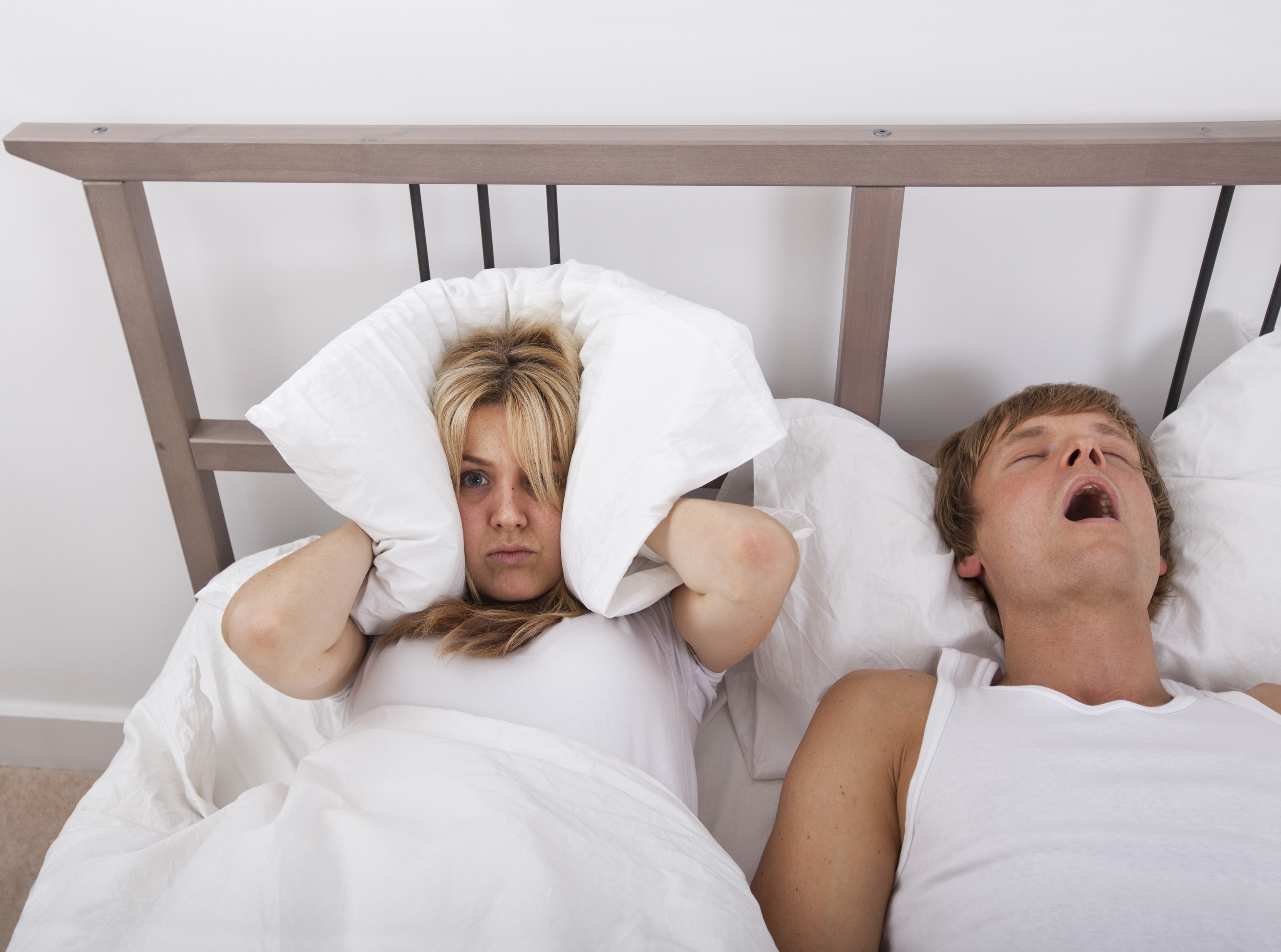 Man Snoring with Upset Wife 2