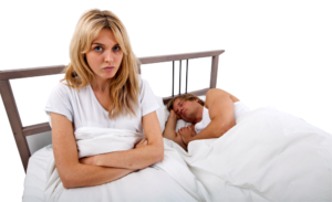 Man Snoring with Upset Wife