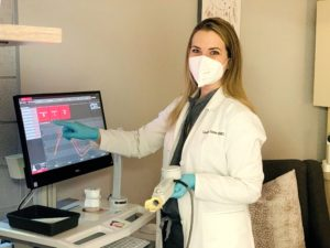 Dr Goss with Sleep Technology